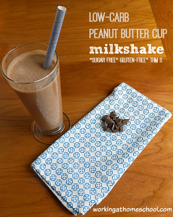 Low Carb Peanut Butter Cup Shake