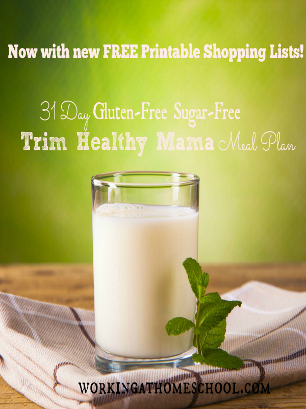 New! Printable Shopping Lists for April/May Gluten-Free THM Menu!