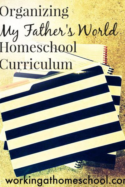 Organizing Homeschool Worksheets