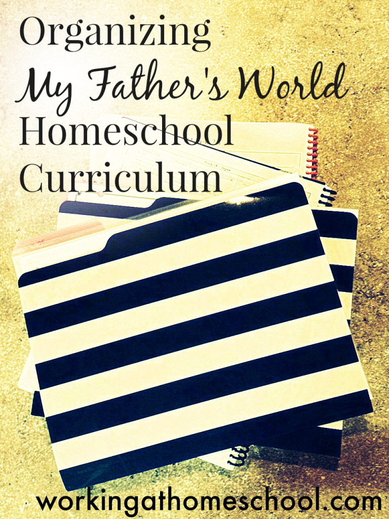 Organizing Homeschool Worksheets