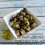 Easy Gluten-Free Summertime Black Bean Chicken Salad (Trim Healthy Mama E)