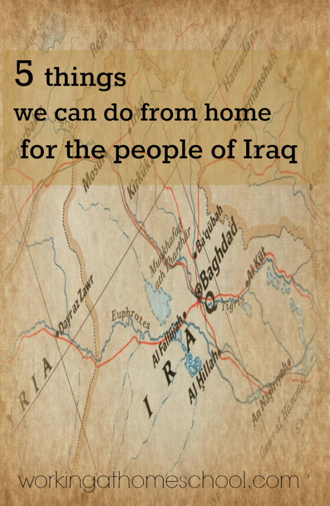 What we can do to help the situation in Iraq