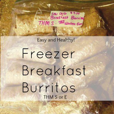 Freezer Breakfast Burritos Trim Healthy Mama Style!