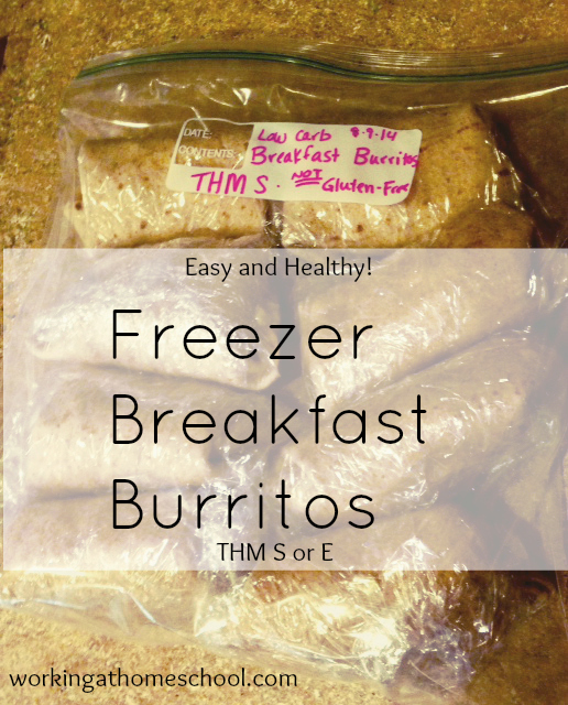 Freezer Breakfast Burritos - THM S or E