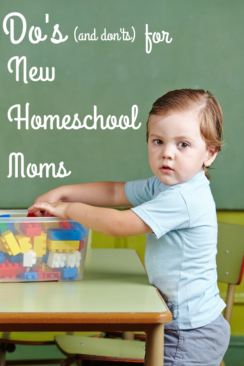 Do's and Don'ts for New Homeschool Moms