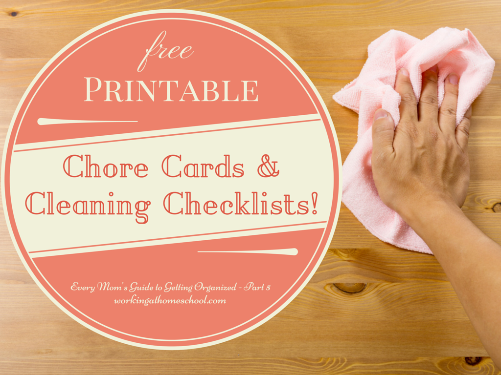 Part 5 – Every Mom's Guide to Getting Organized – Save time cleaning your house with LOTS of free printables!