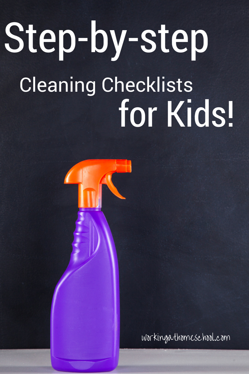 Clean Room Checklists For Kids Working At Homeschool