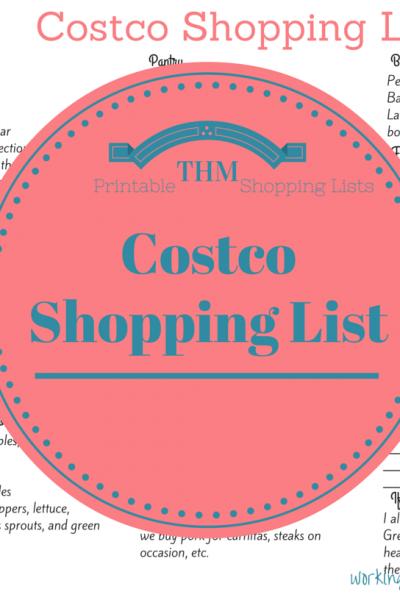 Trim Healthy Mama printable Costco list
