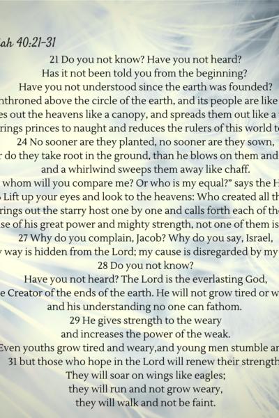 Isaiah 41:21-31 Printable