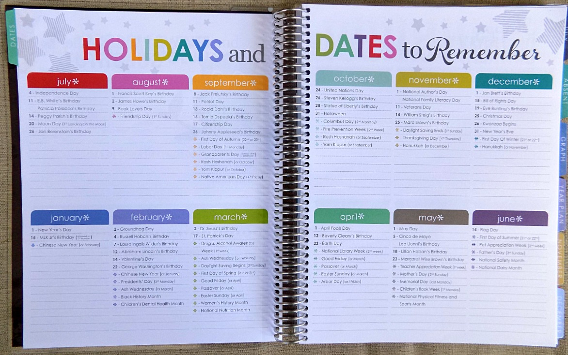 Holidays and Dates to Remember