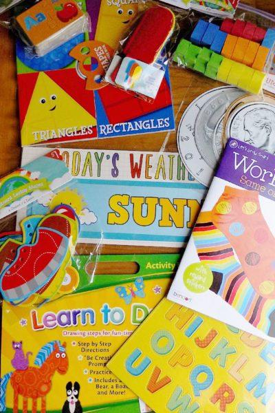 Homeschool Preschool Curriculum Ideas from the Target Dollar Spot
