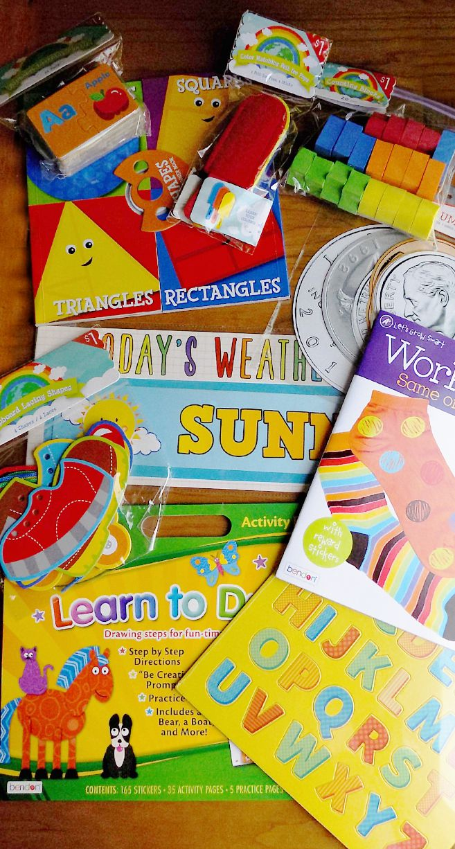 Homeschool Preschool Curriculum Ideas from the Target Dollar Spot