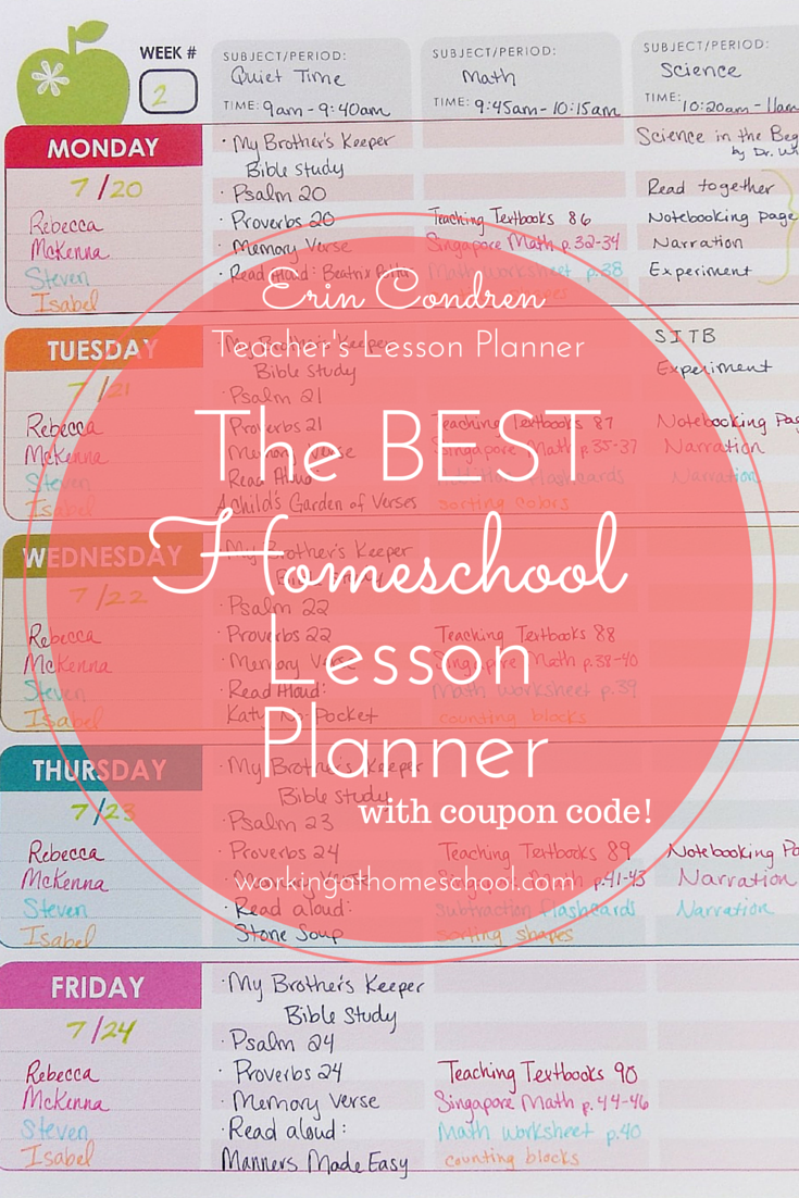 Homeschool Lesson Planner Review – Erin Condren Teacher's Lesson Planner