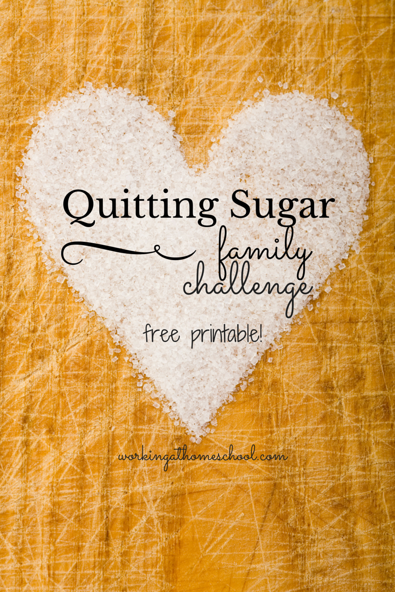 My kids and I are quitting sugar for the next few weeks! Using this free printable - we'll see how it goes!