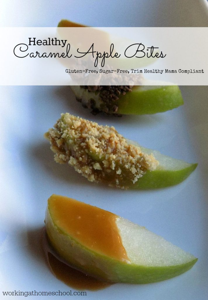 HEALTHY caramel apple bites