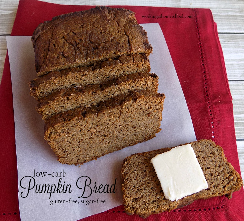 Finally! Low-carb pumpkin bread...moist and delicious!