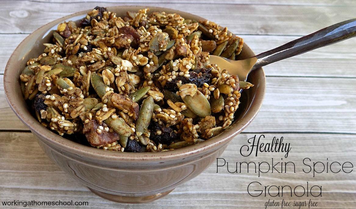 Healthy Pumpkin Spice Granola