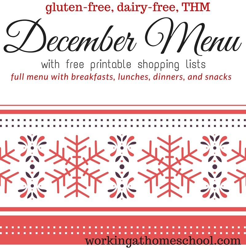 THM Menu for December