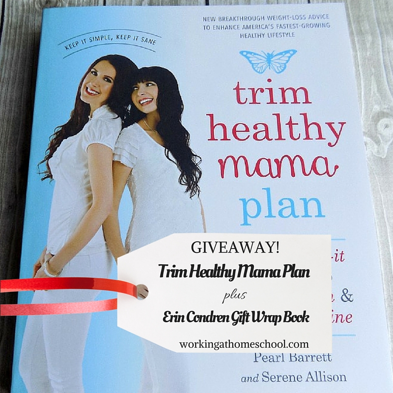 Erin condren christmas gift wrap package and a trim healthy mama book