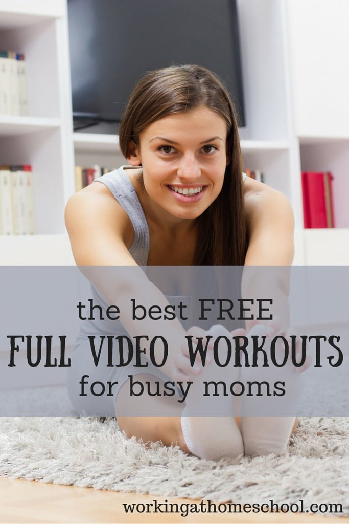 Great resource - FREE full-length workouts for busy moms!