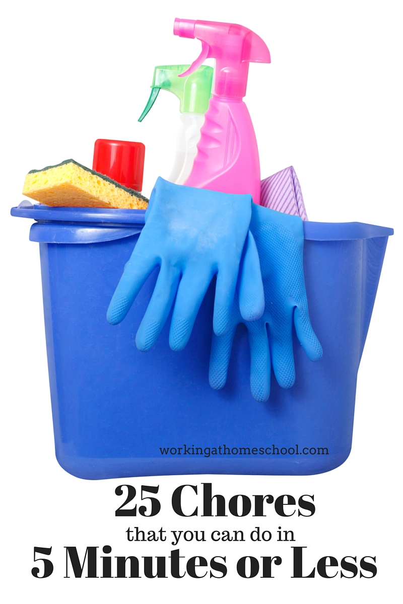 25 Household Chores You Can Do in 5 Minutes or Less