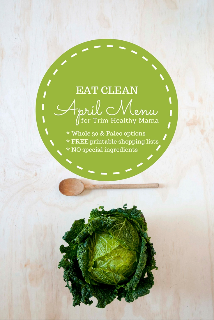 This is a graphic of Simplicity Trim Healthy Mama Menu Plan