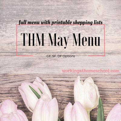Trim Healthy Mama Menu for May
