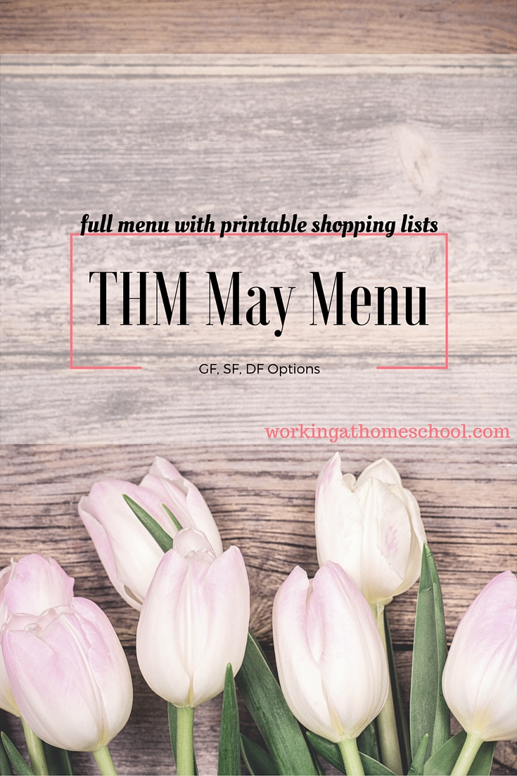 Trim Healthy Mama Menu for May
