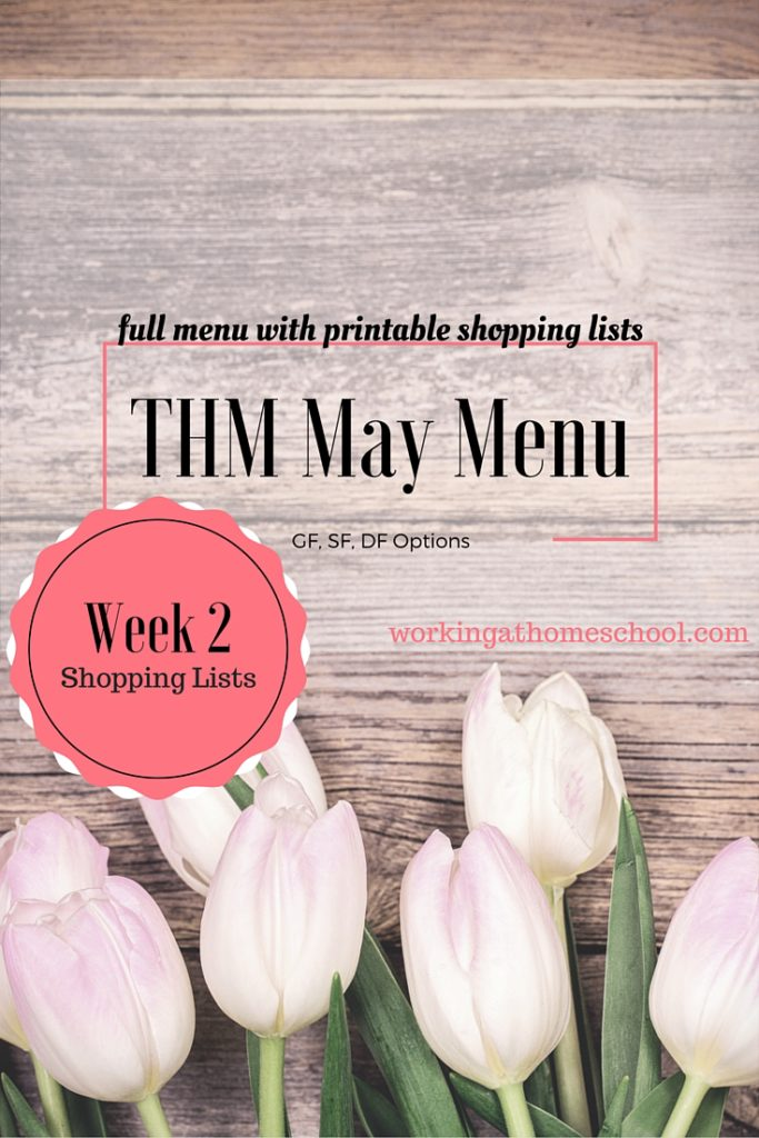THM May Menu with Shopping List
