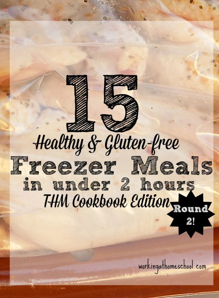 A new batch of freezer meals that you can make in less than 2 hours! Everything you need, including free printable shopping lists!