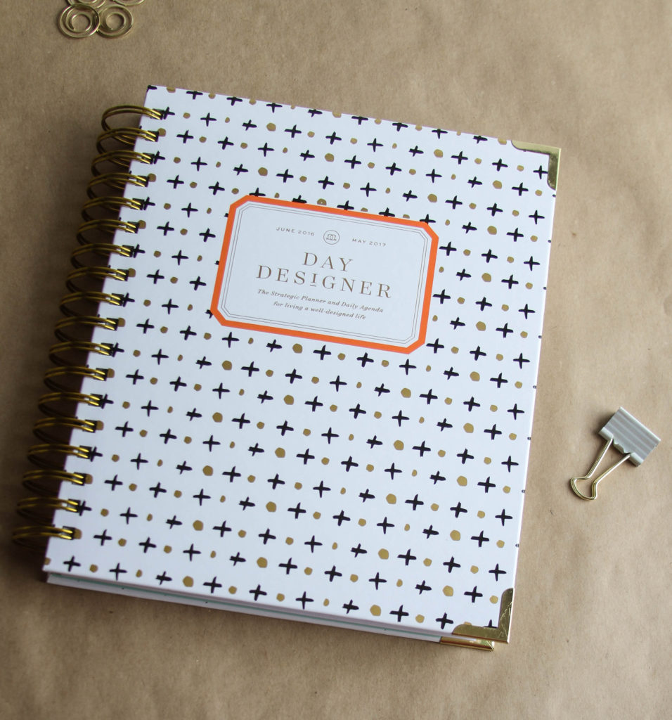 The Day Designer - gorgeous planner with some cool features! Great for organizing home and work life!