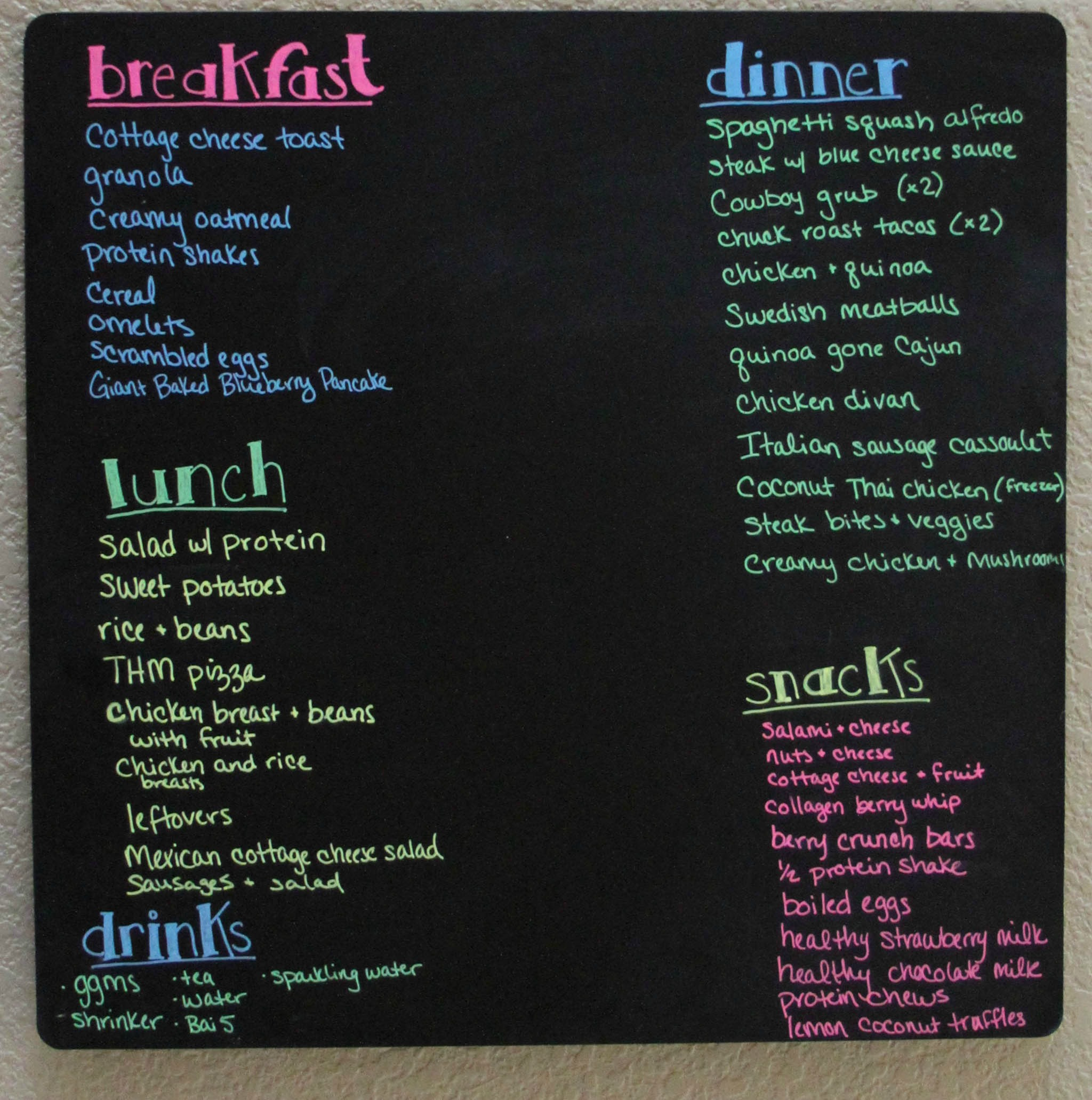 Eat well & reduce waste with a menu board