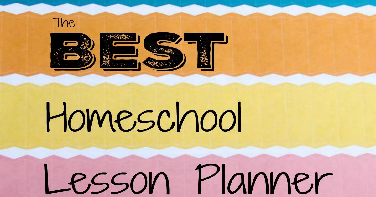 The Best Homeschool Lesson Planner