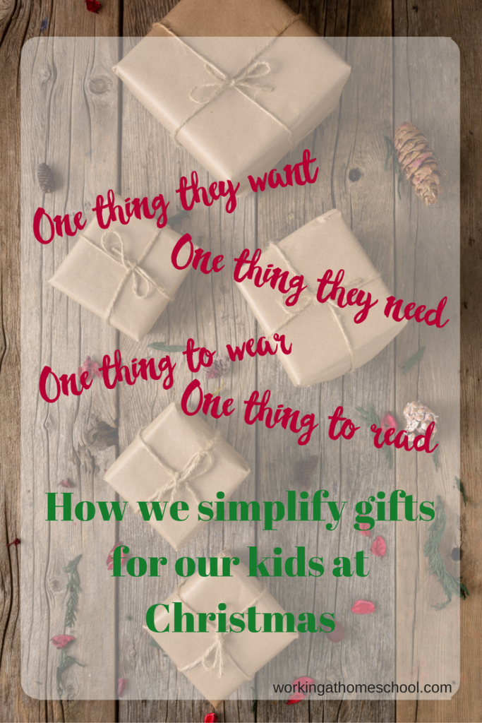 How we simplify gifts at Christmas