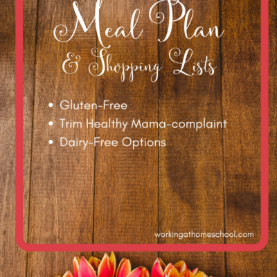 February Printable Trim Healthy Mama Menu