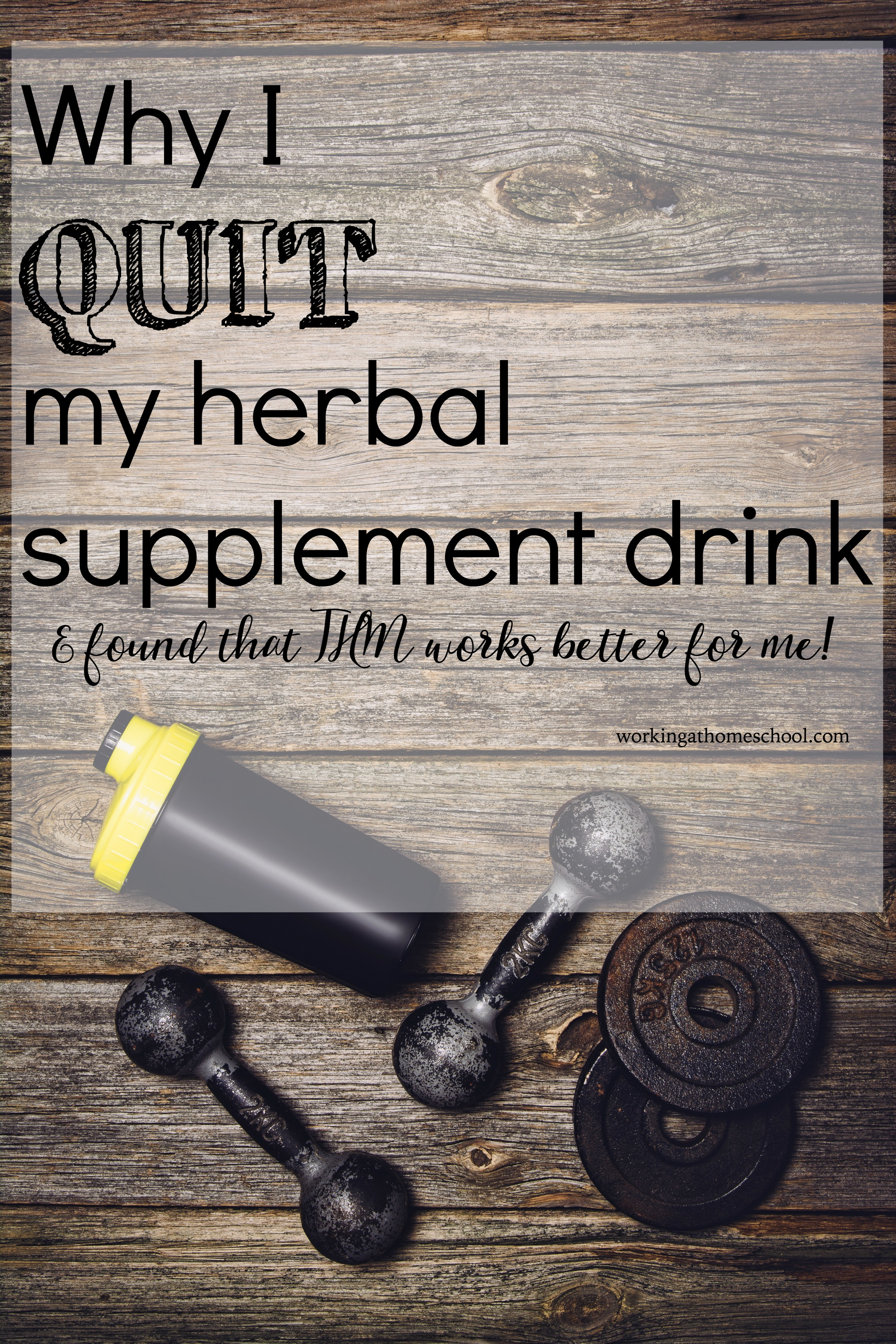 Why I quit my herbal supplement drink