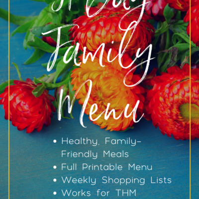 May Menu for Trim Healthy Mama