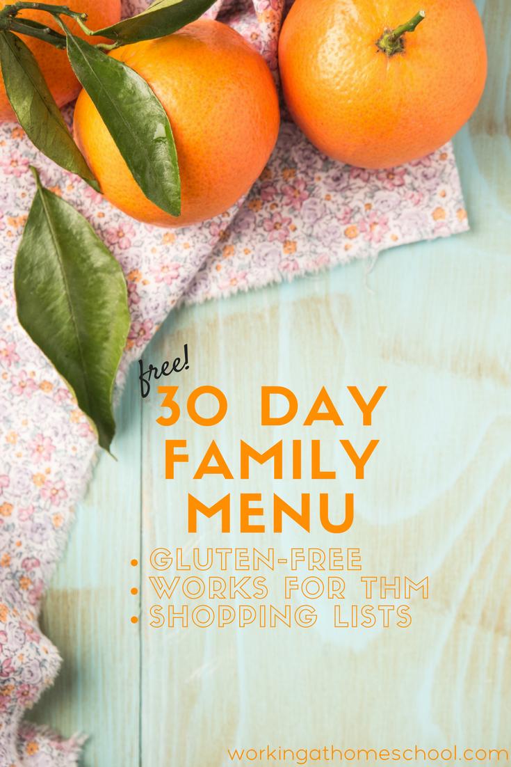 Healthy THM Menu (Frugal Foods)