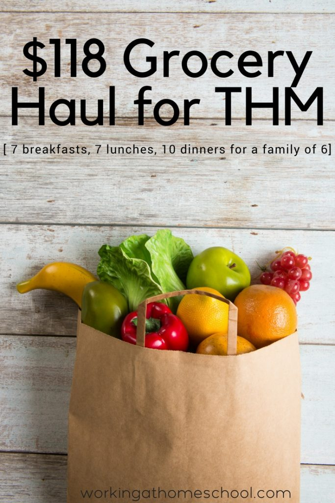 $118 Grocery Haul for THM - save money on groceries with Trim Healthy Mama or Whole 30