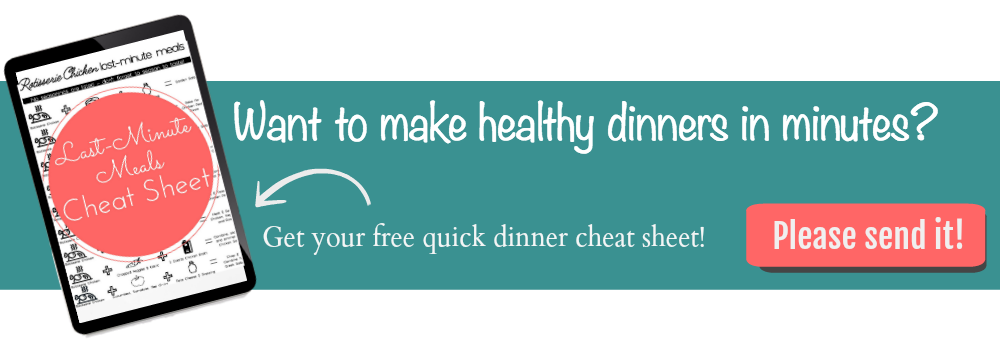 Free download - Dinners in Minutes Cheat Sheet!