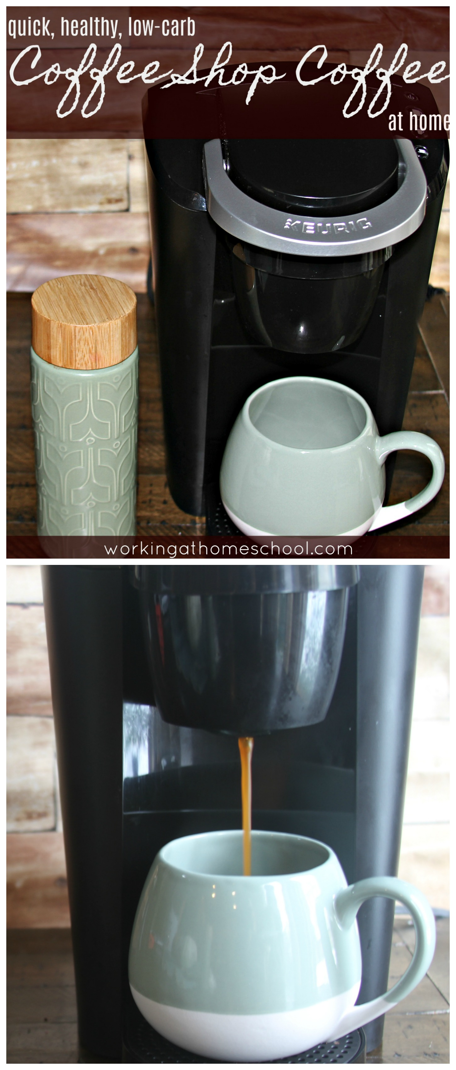 """Quick, easy, delicious coffee at home! Low-Carb, Trim Healthy Mama """"S"""", Paleo, Whole 30"""