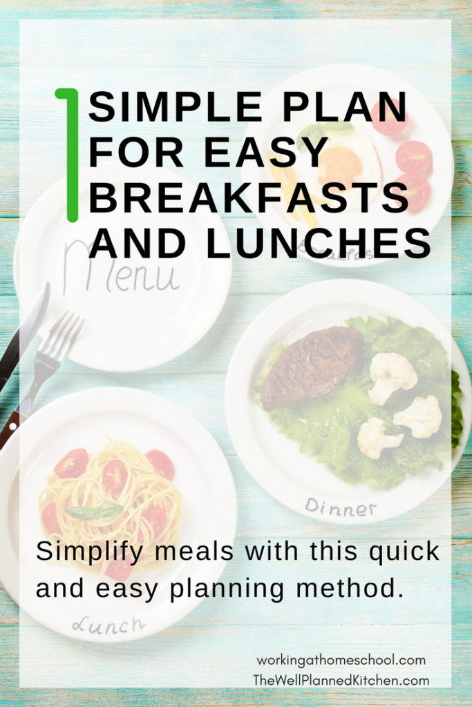 The easiest way to simplify breakfasts and lunches!