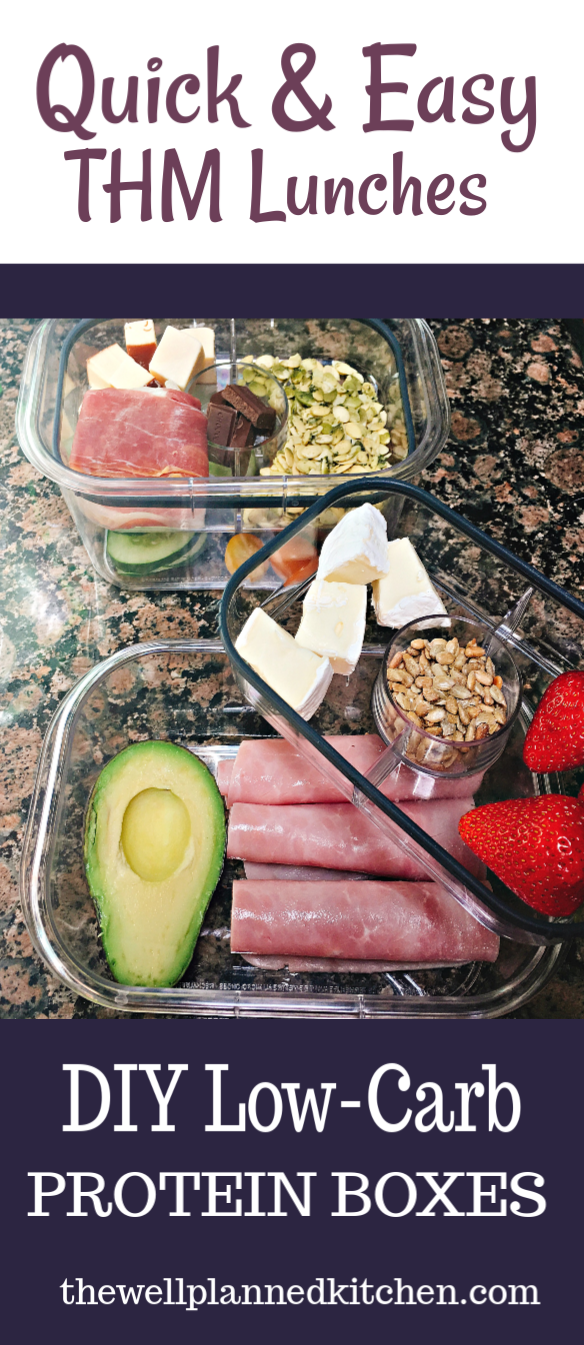 Trim Healthy Mama Lunch Ideas with DIY Protein Boxes