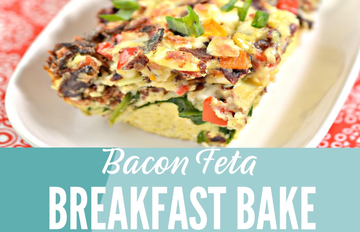 Bacon Feta Breakfast Bake