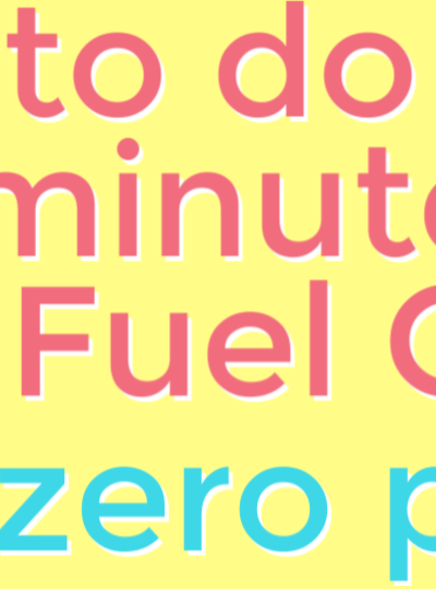 My No-Prep THM Fuel Cycle