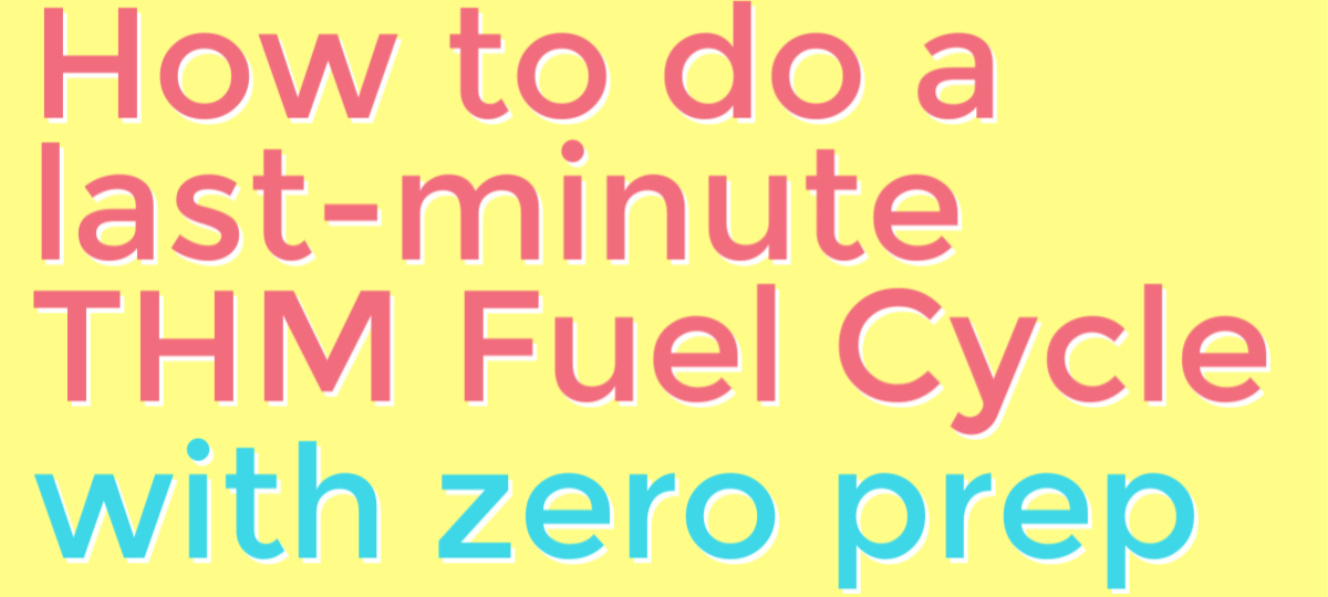 This was a crazy experiment, but it worked - I completed a THM Fuel Cycle without prepping ahead - or even going to the grocery store! It's SO doable! #thm #trimhealthymama #fuelcycle