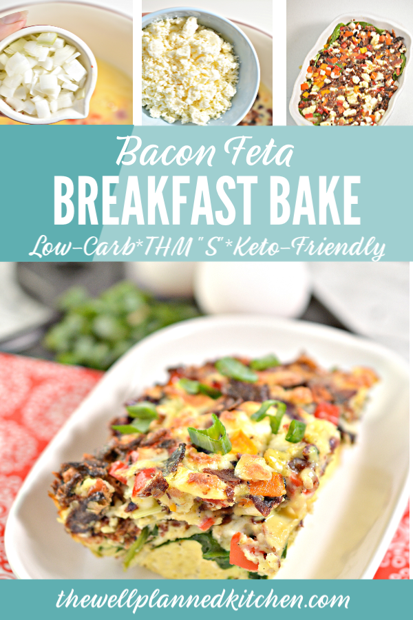 Yummy breakfast bake - perfect to make ahead for busy mornings! This one is a crowd-pleaser! #lowcarb #trimhealthymama #thm #keto