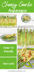 """Delicious, creamy low-carb asparagus with bacon - the perfect """"S"""" side dish! #trimhealthymama #thm #lowcarb"""