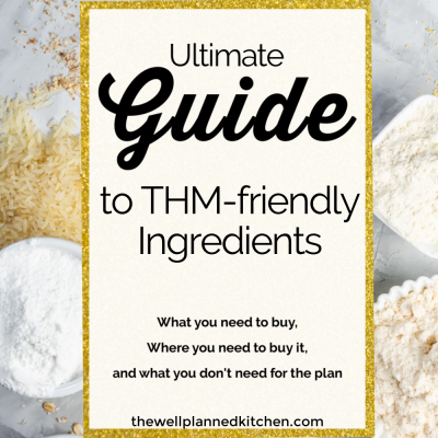 #THM ingredients - what you need and what you don't!