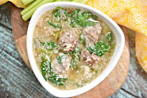 """Delicious, healthy, low carb Italian Wedding Soup! This is a THM """"S"""" recipe!"""
